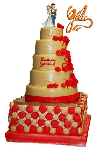Wedding cake sur Macarons