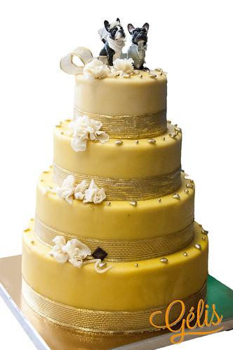 Wedding cake Jaune Or