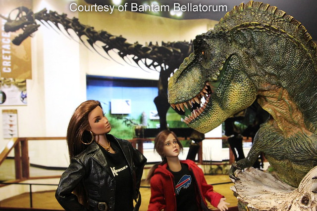 At the Museum of Natural History - photo by Bantam Bellatorum - 1/6 scale custom T-shirts by Hegemony77 #onesixthscale #onesixthfigure #onesixthcustom #onesixthkitbash #onesixthcollector #onesixthphotography