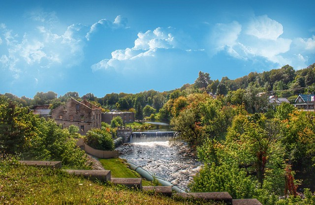 Malone New York - Old Grist Mill - Downtown - River Falls