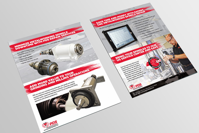 Two-Sided Brochure for PDS Metalworking