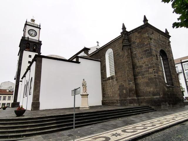 exterior Iglesia matriz de San Sebastian Ponta Delgada Isla San Miguel Azores Portugal 03