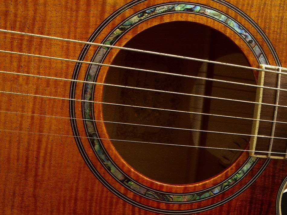 Close-up photo of classical guitar