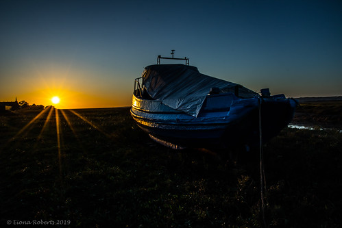 Boat at sunset [ Explore #92]