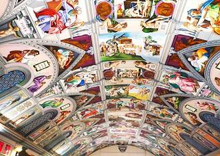 sistine chapel ceiling copy at engish martyrs chuch