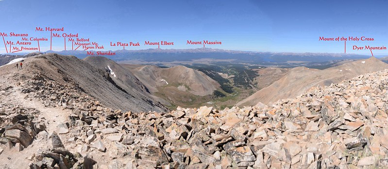 Looking west at mountains from Mount Sherman's summit 2_副本