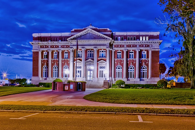 DeSoto County Courthouse, 115 E Oak Street, Arcadia, Florida, USA / Completed: 1913, restored in 1976 / Floors: 3 + basement / Architect: Bonfoey & Elliott of Tampa / Builder: Read-Parker Company / Architectural Style: Classical Revival