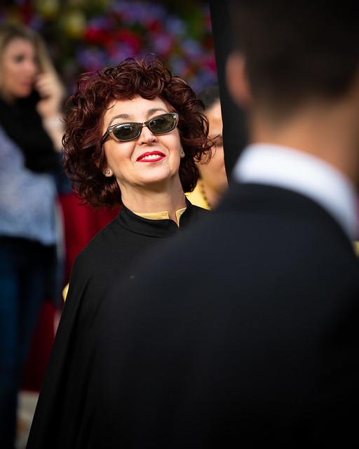 Woman at Easter parade in Palma