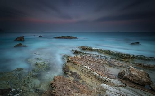 villajoyosa varadero marinabaixa alicante seascape sunset coucherdusoleil rocas rocks landscape ocaso