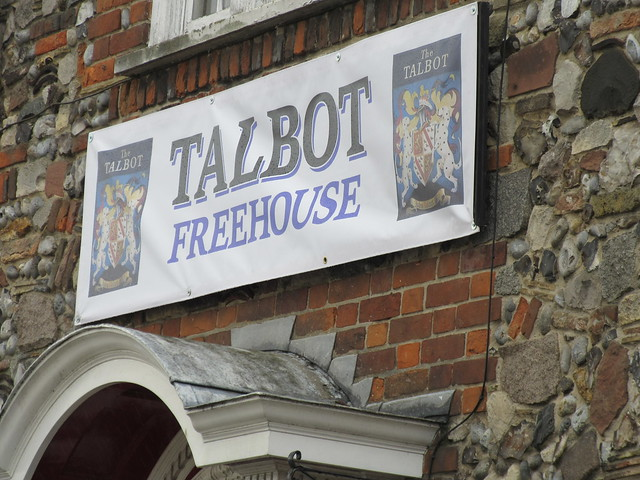 Sign for a Talbot Reunion at The Mariners Tavern, Howard Street South, Great Yarmouth, Norfolk