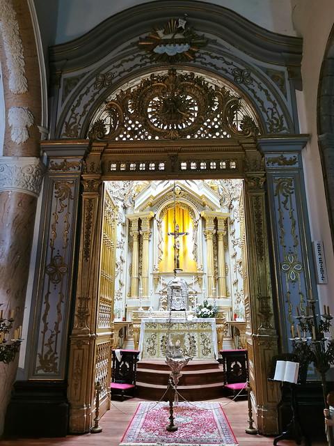 retablo capilla del Santisimo interior Iglesia matriz de San Sebastian Ponta Delgada Isla San Miguel Azores Portugal