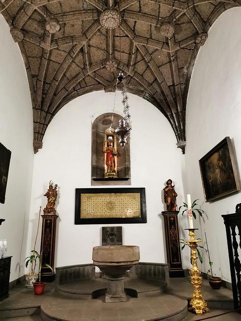 capilla del Bautismo interior Iglesia matriz de San Sebastian Ponta Delgada Isla San Miguel Azores Portugal