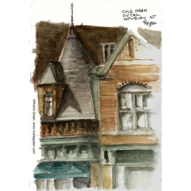 Cole Haan Boston building detail sketch 9-19