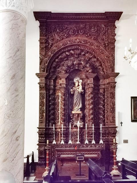 retablo capilla interior Iglesia matriz de San Sebastian Ponta Delgada Isla San Miguel Azores Portugal 08