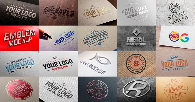 20 Increíbles Nuevos Mockups PSD Gratuitos y de Alta Calidad para Logos
