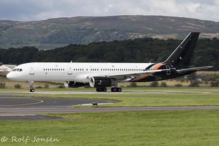 G-POWH Boeing 757-200 Titan Airways Glasgow airport EGPF 07.08-19