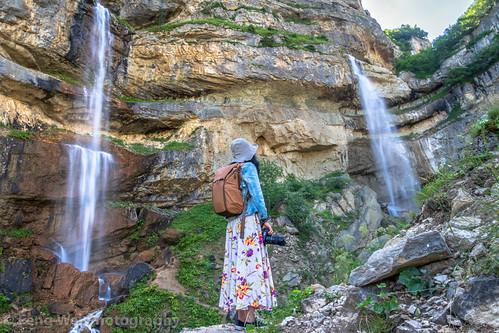 traveldestinations asia azerbaijan colorimage tourist waterfall beautyinnature eurasia tourism caucasus outdoors laza scenicsnature horizontal travel mountain qusar caucasusmountains remotelocation landscapescenery