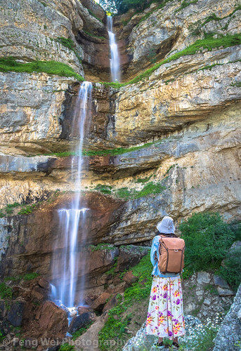 traveldestinations landscape asia vertical azerbaijan tourist colorimage beautyinnature remote travel eurasia caucasus outdoors laza scenicsnature tourism waterfall mountain qusar