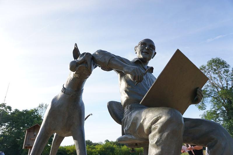 Marmaduke & Brad Anderson Statue in Brocton Near Jamestown, N.Y., Aug. 2019