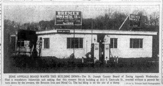 1960 - Ochstein orderd to remove bldg photo - South Bend Tribune - 4 Feb 1960