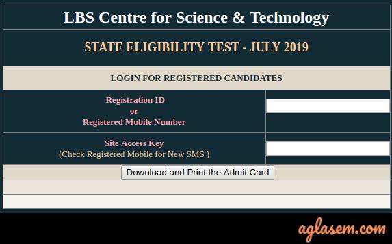 Kerala SET (LBS) Admit Card Kerala SET (LBS) Admit Card 2020: Download at lbscentre.kerala.gov.in