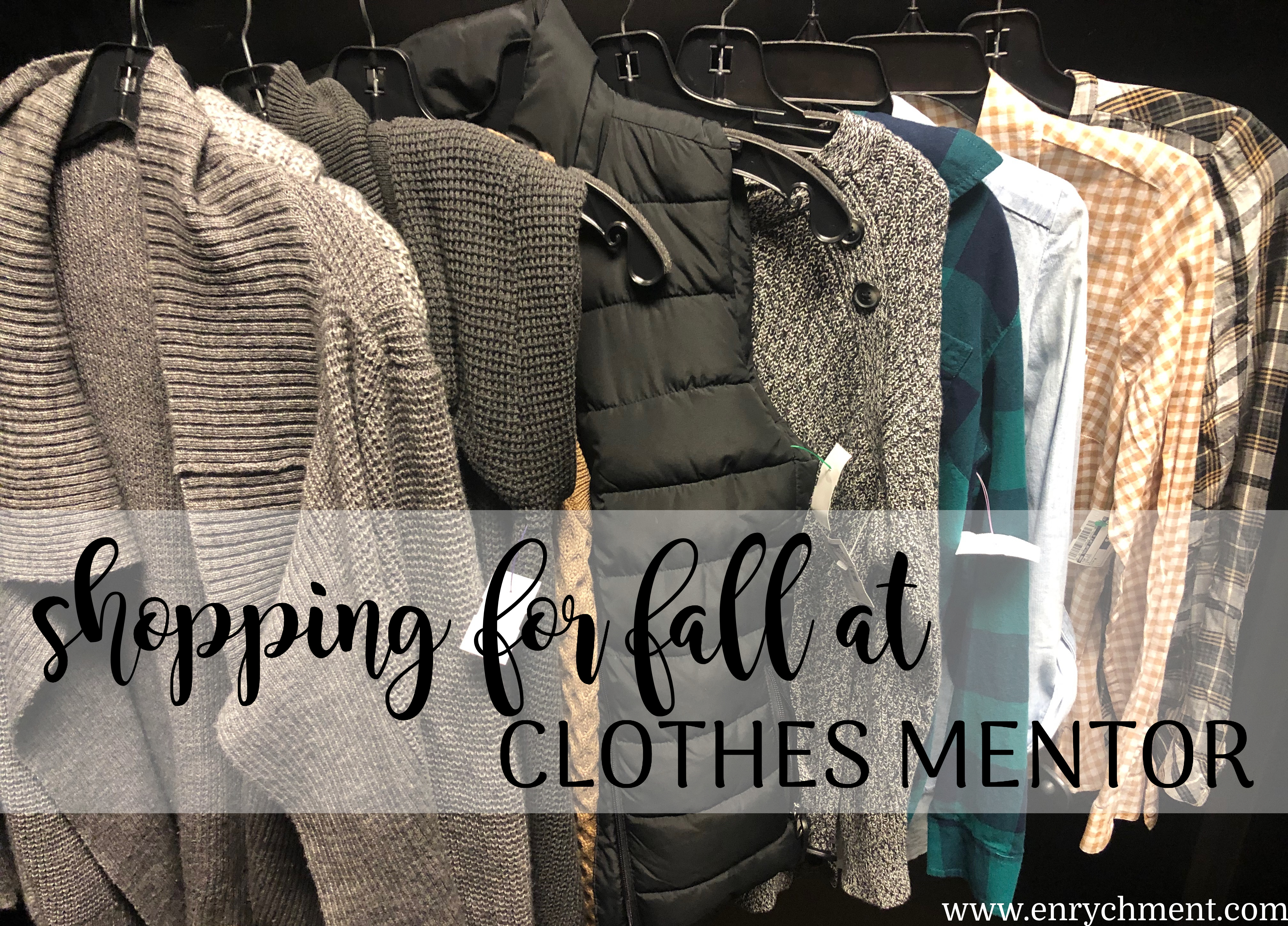 Fall wardrobe update at a discount with Clothes Mentor | www.enrychment.com