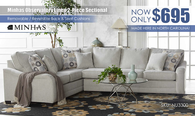 Observatory Linen Sectional Minhas Furniture 3300