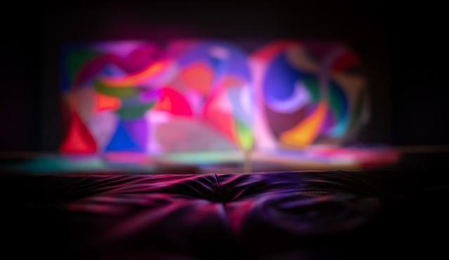 "Seating for David Hockney's, ""Snails Space with Vari-Lites"""
