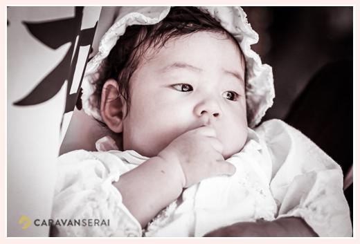 3か月の女の子赤ちゃん 初宮参り