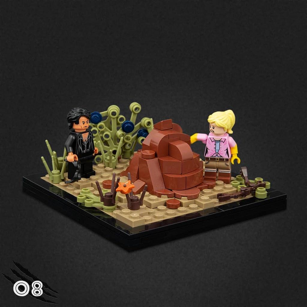用樂高重現驚險刺激的《侏羅紀公園》電影場景! Jonas Kramm 樂高 MOC 作品《侏羅紀公園》的名場景精選~