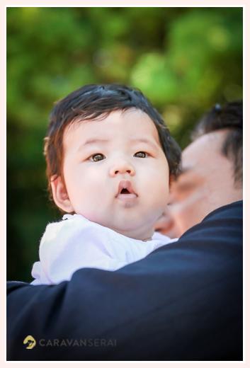 3か月の女の子赤ちゃん