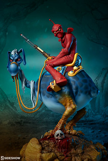 漫步在荒漠的神秘騎士! Sideshow Collectibles【威廉·斯托特的紅騎士】William Stout's Red Rider 全身雕像作品