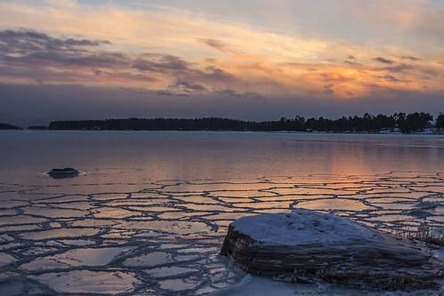 canon6d landscape seascape nature outdoors outside sunset sky clouds reflection finland espoo