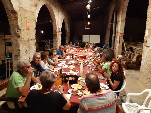 Sopar de cloenda dels patinaires, a la seu de l'associació