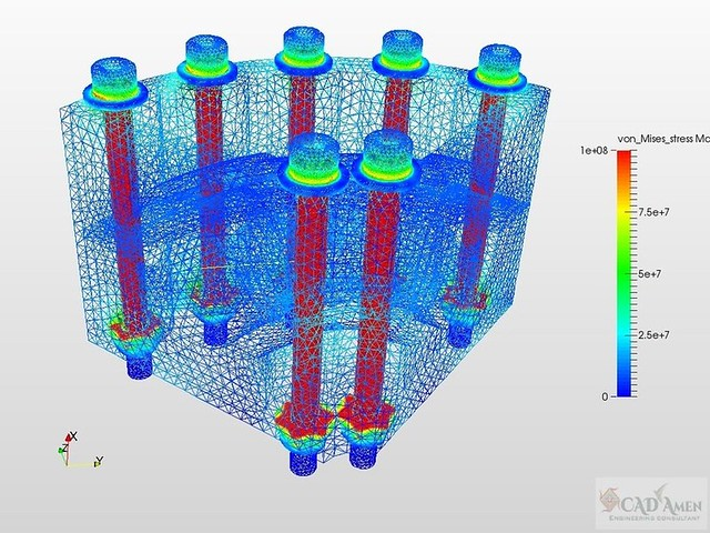 Nonlinear Static Stress Analysis Services - CAD Amen Engineering Consultant