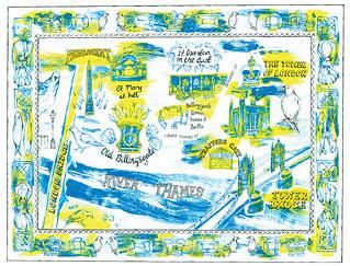 London map illustration