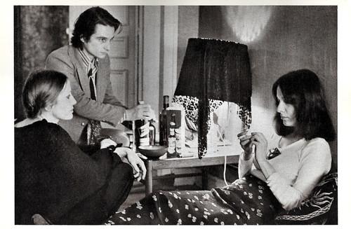 Jean-Pierre Léaud, Françoise Lebrun and Bernadette Lafont in La Maman et la Putain (1973)