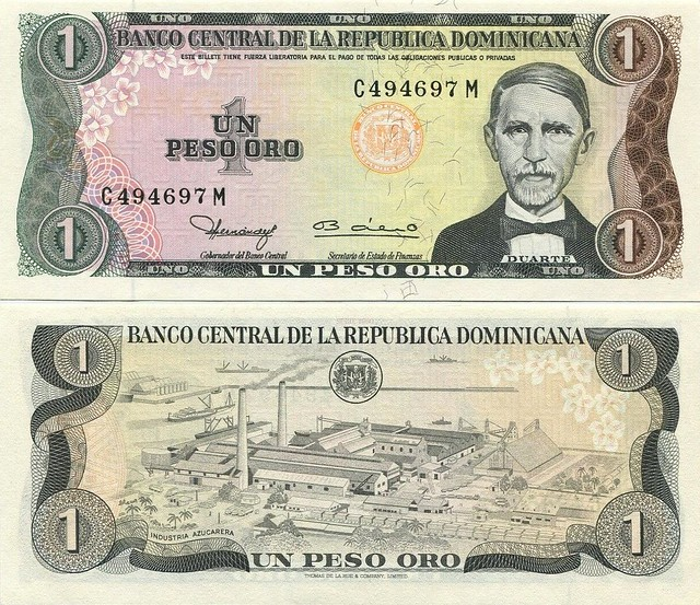 1 Peso Oro Dominikánska republika 1980 P117a