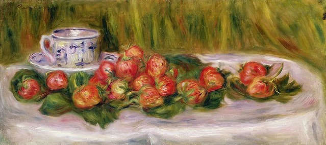1905 Renoir Still life with strawberries and a tea cup(private collection)