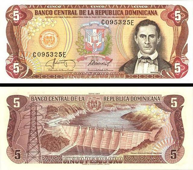5 Pesos Oro Dominikánska republika 1982-88 P118