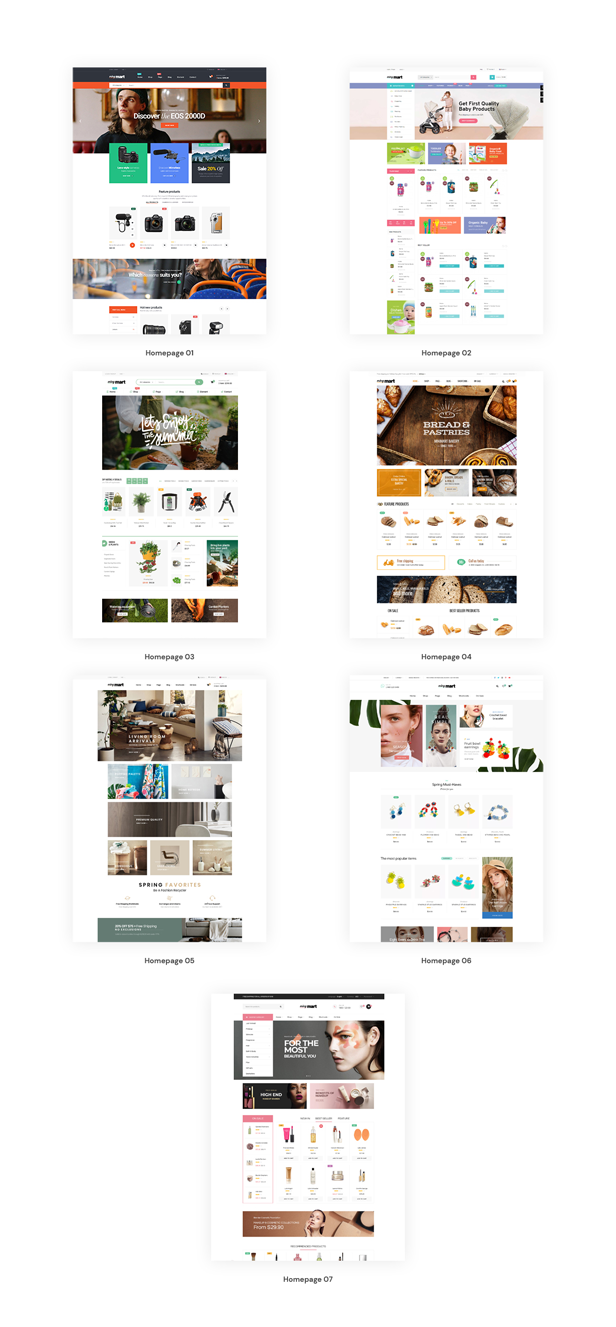 07+ Eye-Catching Homepages Layouts