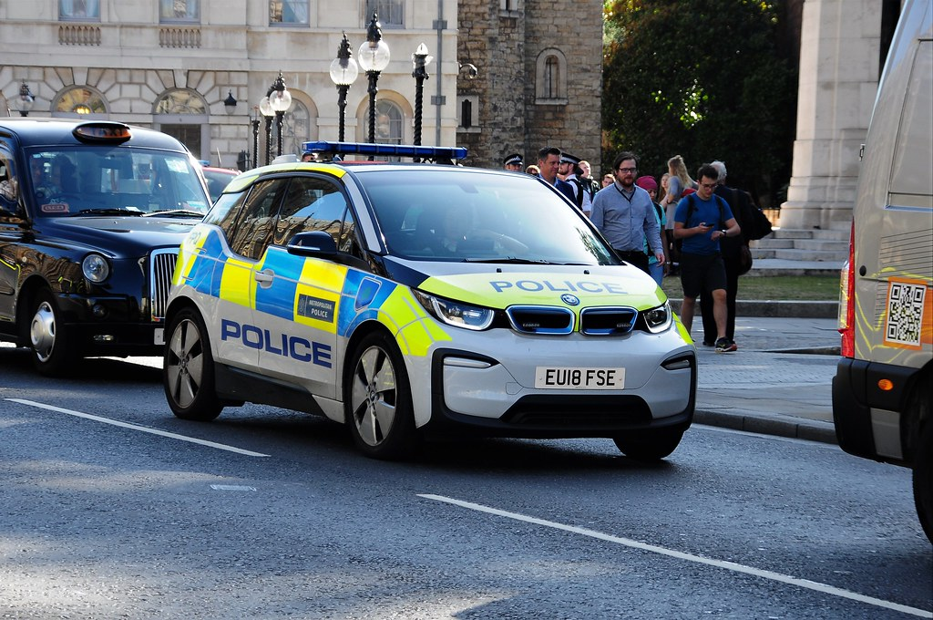 London Metropolitan Police Electric Powered BMW i3...EU18 FSE