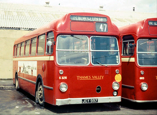 Thames Valley Traction Co. S326 JCY997 .  Reading Garage , Berkshire . 26th-May-1969 .