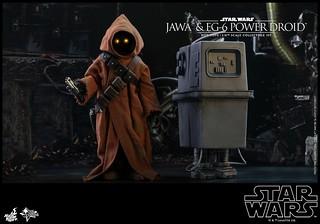Hot Toys - MMS554 -《星際大戰四部曲:曙光乍現》爪哇族&EG-6 動力機器人 Jawa & EG-6 Power Droid 1/6 比例人偶作品