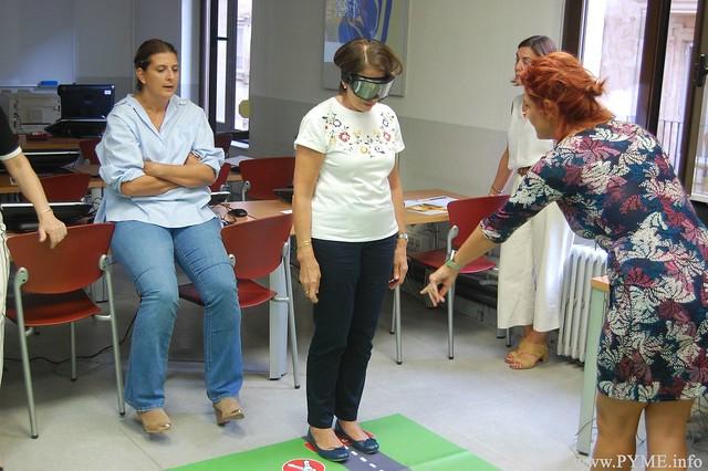 Ejercicio práctico del taller de Seguridad Vial de CONFAES.
