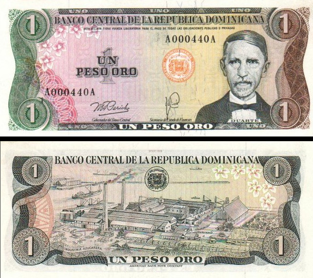 1 Peso Oro Dominikánska republika 1978 P116a