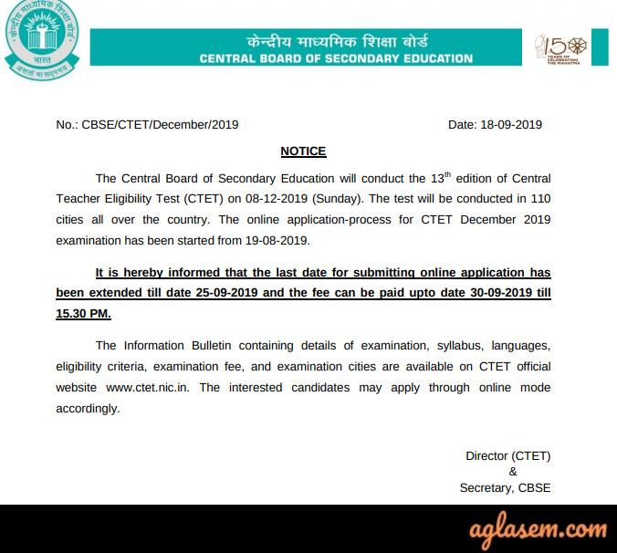 Ctet 2019 application form