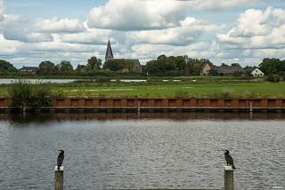Drempt; Drempt, Oude IJssel en twee aalscholvers