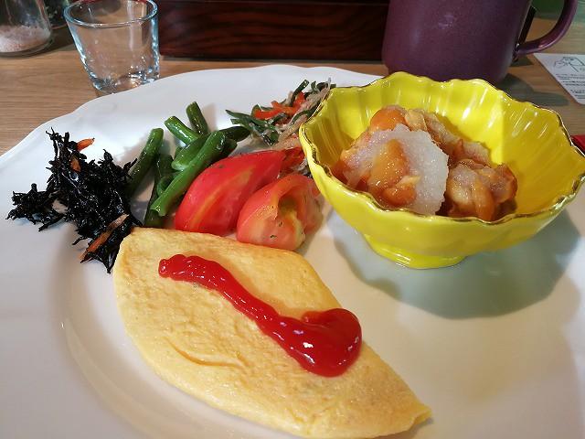 <p>朝食バイキングから</p>