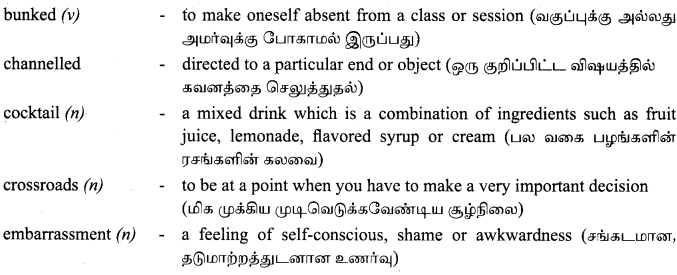 Tamilnadu Board Class 9 English Solutions Prose Chapter 1 Learning the Game - 14